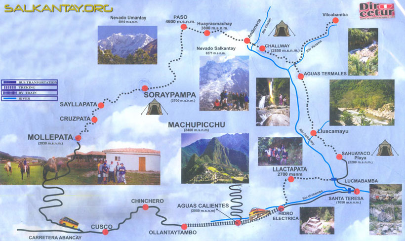 SALKANTAY Trail  MAP