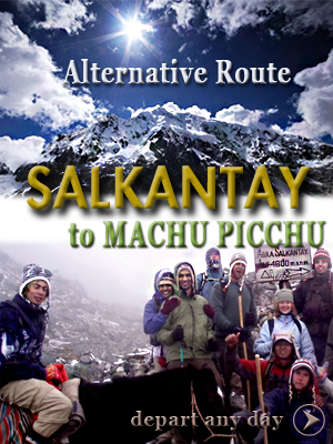 Alternative Salkantay trail to Machu Picchu