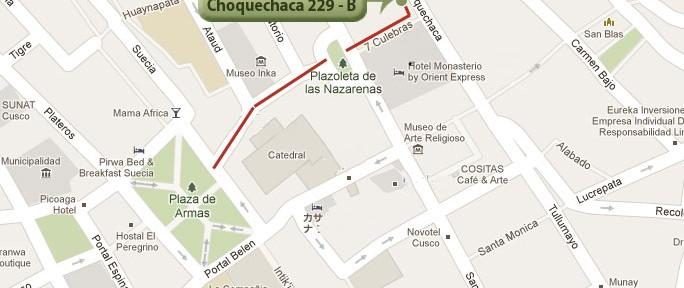 Our Cusco Office location