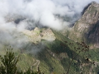 clouds on the inca trail