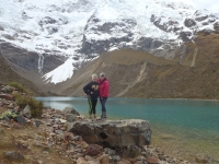 At Lake Umantay and Glacier Umantay on Day 1