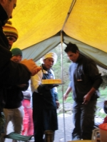 Our Chef who baked a cake for one of our hiking mates who celebrated their birthday on their trail, and guide, Brian